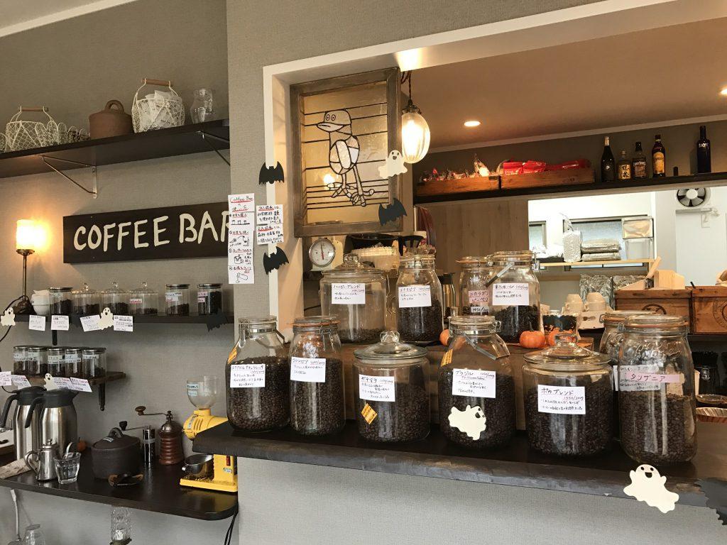 ハンモックと自家焙煎の珈琲Barがあるカフェ。